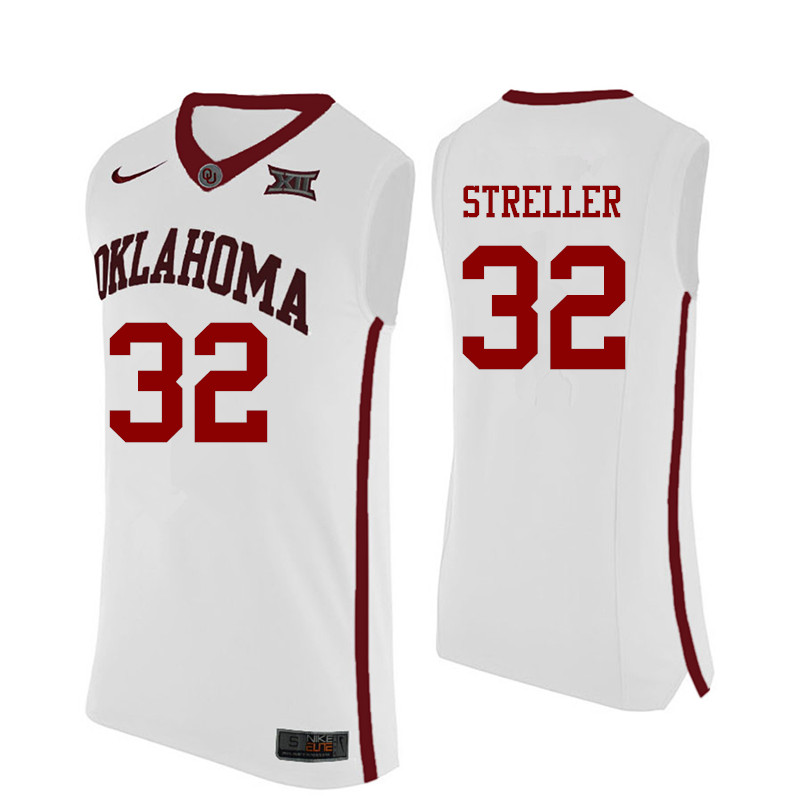 Men Oklahoma Sooners #32 Read Streller College Basketball Jerseys-White