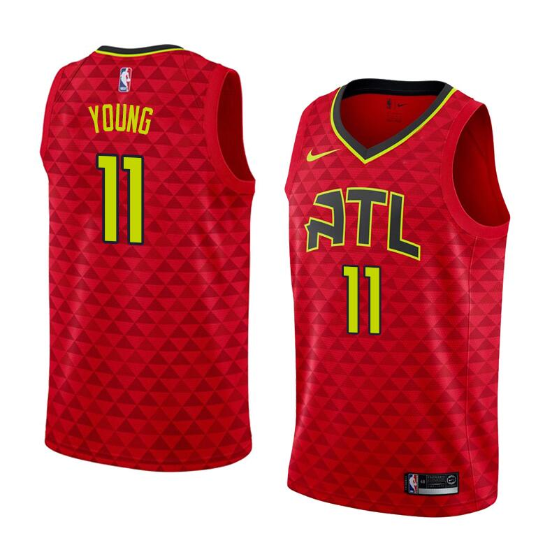 Men #11 Trae Young Atlanta Hawks Basketball Jerseys Sale-Red