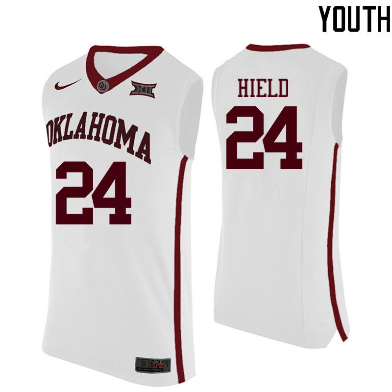 Youth Oklahoma Sooners #24 Buddy Hield College Basketball Jerseys-White
